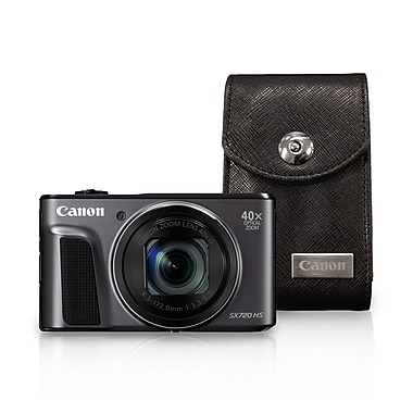 Canon PowerShot SX720 HS Digital Camera, 20.3 MP, 40x Optical Zoom, Black with Case