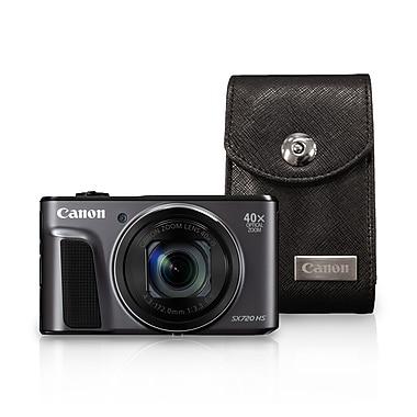 Canon – Appareil photo numérique PowerShot SX720 HS, 20,3 MP, zoom optique 40x, noir avec étui