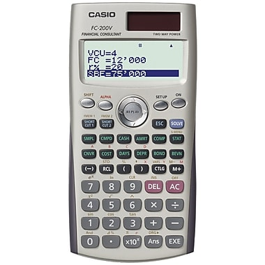 CASIO® FC-200V Financial 4-Line Display Calculator with Advanced Business Functions