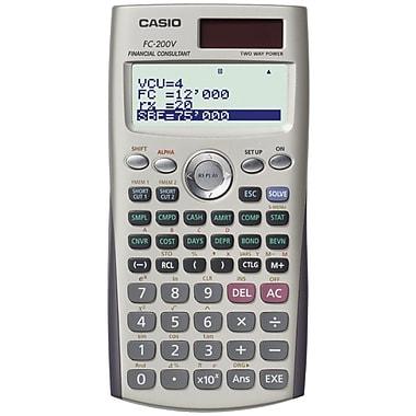 CASIO® - Calculatrice financière FC-200V à 4 lignes avec fonctions commerciales avancées