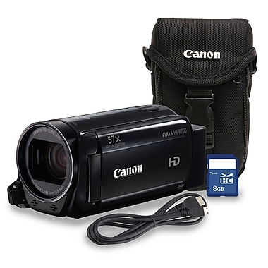 Canon VIXIA HF R700 Digital Camcorder, 32x Optical/ 57x Advanced Zoom Bundle with Case and 8GB SD Card