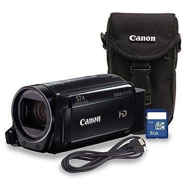 Canon - Caméscope numérique VIXIA HF R700, zoom combiné optique 32x/avancé 57x avec étui et carte SD de 8 Go