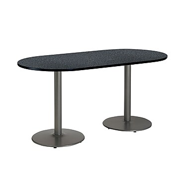 KFI Seating 72'' Oval Conference Table, Graphite Nebula ...