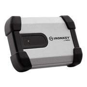 IronKey™ Enterprise 1TB 5 Gbps USB 3.0 Encrypted External Hard Drive, Black/Silver (H350)