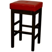 New Pacific Direct Valencia 27 inch Bar Stool; Red