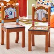 Fantasy Fields Little Sports Fan 2 Piece Kids Desk Chair Set