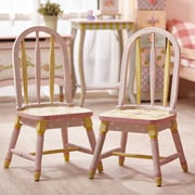 Fantasy Fields Crackled Rose Kids Desk Chairs (Set of 2)