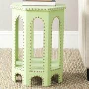 Safavieh Nara Stool; Light Green