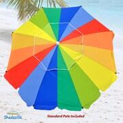 SDZA 8' Premium Beach Umbrella with Integrated Anchor and Hanging Hook