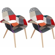 Mod Made Morza Arm Chair (Set of 2); Patchwork