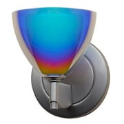 Bruck Rainbow 1 Light Wall Sconce; Matte Chrome