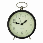 AdecoTrading Vintage-Inspired Round Modern Table Top or Wall Hanging Clock