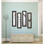 Rayne Mirrors Molly Dawn Country Pine Mirror Panels (Set of 4); 27.5'' H x 13.5'' W x 0.75'' D