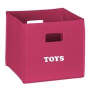 RiverRidge Kids Folding Storage Bin; Hot Pink