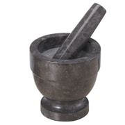 Creative Home Marble Mortar and Pestle; 4.75'' H x 4.75'' W x 4.75'' D