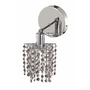 Elegant Lighting Mini 1 Light Round Canopy Pentagon / Star Wall Sconce; Crystal (Clear) / Royal Cut