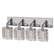 Elegant Lighting Mini 4 Light Oblong Canopy Ellipse Wall Sconce; Crystal (Clear) / Spectra Swarovski