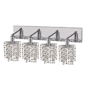 Elegant Lighting Mini 4 Light Oblong Canopy Pentagon / Star Wall Sconce; Crystal (Clear) / Royal Cut