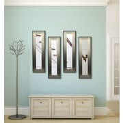 Rayne Mirrors Molly Dawn Brushed Silver Mirror Panels (Set of 4); 33.5'' H x 12.5'' W x 0.75'' D