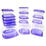 Imperial Home 30 Piece Plastic Food Container Set; Purple