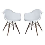 eModern Decor Scandinavian Arm Chair (Set of 2); Light Gray