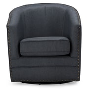 Wholesale Interiors Baxton Studio Classic Retro Upholstered Barrel Chair; Gray