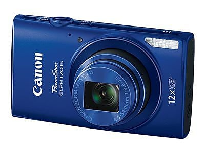Canon PowerShot ELPH 170 IS 20 MP Compact Digital Camera, 12x Optical Zoom, 4.5 - 54 mm Focal Length, Blue