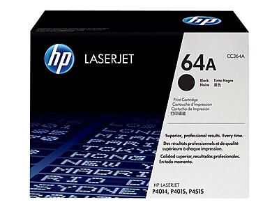 HP 64A Black 10000 Pages Standard Yield Original Toner Cartridge for LaserJet P4014 Laser Printer
