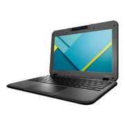 "Lenovo™ N22 Winbook 80SF0000US 11.6"" Chrome book, LCD, Intel Celeron N3050, 16GB HDD, 2GB RAM, Chrome OS, Black"