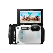 Olympus TG-870 16 MP Tough Digital Camera, 5x Optical Zoom, 3.74 - 18.7 mm Focal Length, White