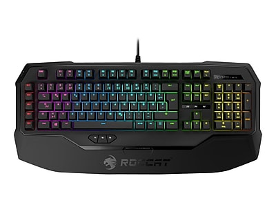 Roccat Ryos MK FX ROC-12-871-BN-AM USB Wired Cherry Switch Mechanical Gaming Keyboard, Black\/Brown