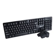 SIIG® JK-WR0K12-S1 USB Wireless Dura-Duo Keyboard and Optical Mouse Combo, Black