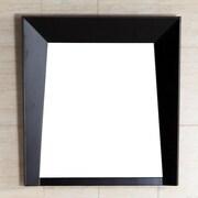 Bellaterra Home Wood Frame Mirror; 26'' H x 24'' W x 3'' D