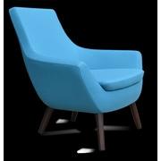 sohoConcept Rebecca Wood Arm Chair; Sky Blue Wool Camira Wool