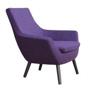 sohoConcept Rebecca Wood Arm Chair; Deep Maroon Camira Wool