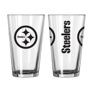 Boelter Brands NFL 16 Oz. Game Day Pint Glass (Set of 2); Pittsburgh Steelers