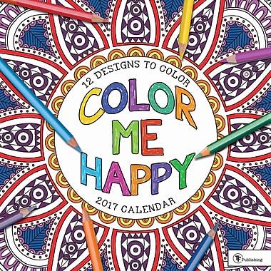 TF Publishing – Calendrier mural 2017, Color Me Happy, 12 x 12 po