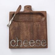 Mud Pie  Cheese 2 Piece Cutting Board Set
