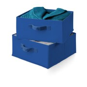 Honey Can Do Two Pack of Drawers; Navy