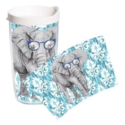Tervis Tumbler On Trend Elephant Glasses Tumbler with Lid; 16 oz.