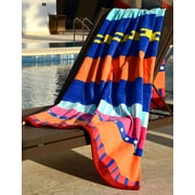 Buettner USA Cotton Velour Terry 400 GSM Beach Towel; Bright