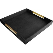 Accents by Jay Jenner Tray; Black - Gold Handles