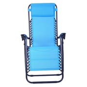 Outsunny Zero Gravity Steamer Lounge Chair; Light Blue