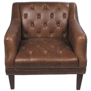 Joseph Allen Tufted Leather Loung Chair