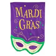 Evergreen Enterprises, Inc Mardis Gras Mask Vertical Flag