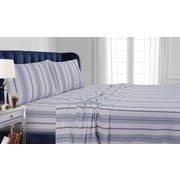 Tribeca Living Stripe Cotton Sheet Set; Queen