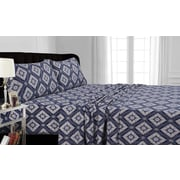 Tribeca Living Damask Cotton Sheet Set; Full
