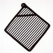 Flato Home Striped Potholder; Black