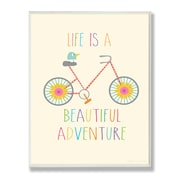 Stupell Industries The Kids Room Life is a Beautiful Adventure Typography Wall Plaque