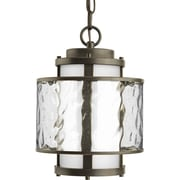 Progress Lighting Bay Court 1 Light Outdoor Hanging Lantern; Antique Bronze